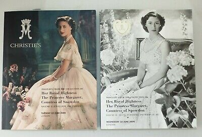 Good Set of Princess Margaret Christies Auction Catalogues 2006 Parts 1 and 2