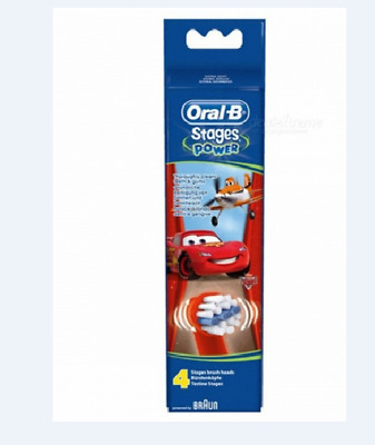Braun Oral-B Stages Power Cars Toothbrush Heads New & Sealed Free Post