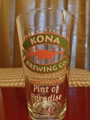 """6"""" tall """"Kona Brewing Co."""" pint beer glass. Hawaii Brewery. Tommy O's. Ale"""