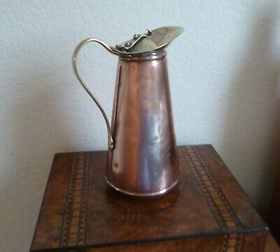 Early Antique W A Benson Lidded Jug-Arts & Crafts-Copper and Brass-Circa 1890
