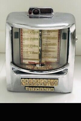 Vintage 1950's Jukebox Selector Seeburg 160 Wall-O-Matic NO Key/Small Cracked