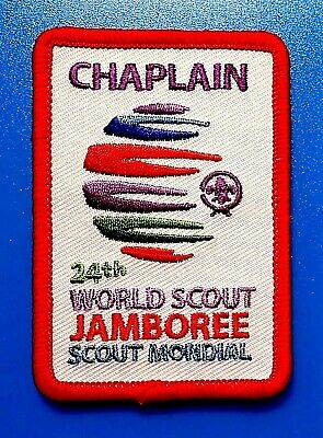 VY RARE 24th 2019 WORLD SCOUT JAMBOREE OFFICAL WSJ CHAPLAIN BADGE PATCH