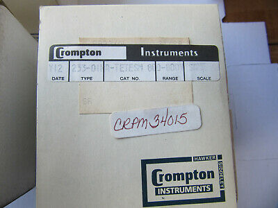 """Crompton 233-011 Panel Meter 2-3/4"""" 800-0-800 DC Volts A-TESTSM NEW!!! in Box"""