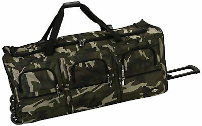 Rockland Luggage 40 Inch Rolling Duffle Zipper Wheels Bag, Camouflage X-Large
