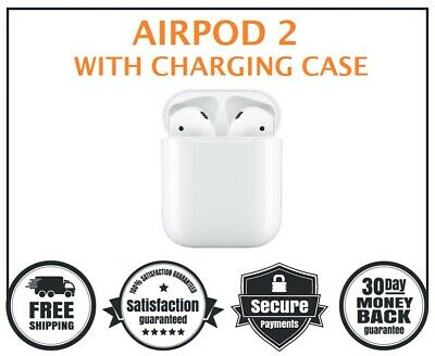 New Apple AirPods 2nd Generation with Charging Case White - Bluetooth 2019