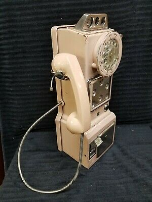 "VTG 3-Slot-Coin Canadian 1969 Rotary Pay Telephone QSD3A... ""COMPLETE & WORKING"""