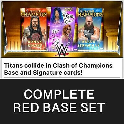 Topps WWE Slam Digital Clash Of Champions Red Base Set Full 2019 AWARD READY