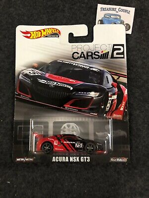 Hot Wheels 2019 Premium Project Cars 2 Acura NSX GT3 Metal & Real Riders C62