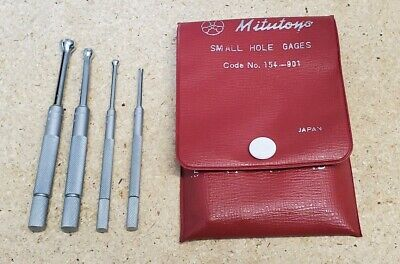 """Mitutoyo No. 154-901 small hole gages - .125"""" to .500"""" *MINT*"""