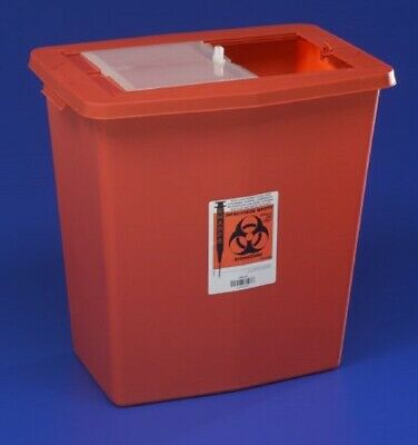 Sharps Container, SharpSafety 18 Gallon Red, 8938 - Case of 5