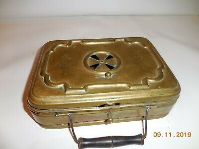 Antique Brass Foot Warmer, French.