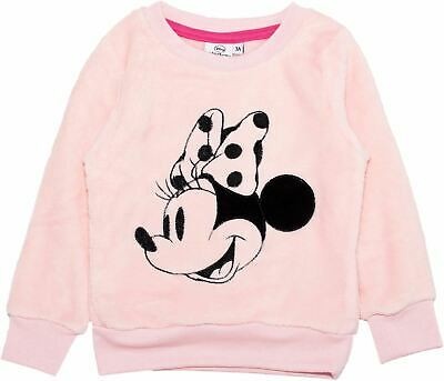 Disney Minnie Mouse Girls Coral Fleece Sweater Jumper