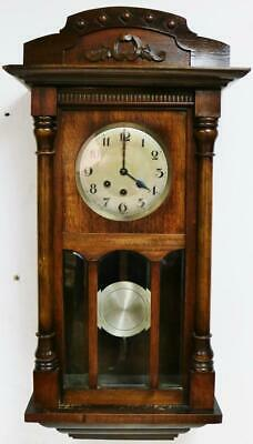 Antique German Arts & Crafts 8 Day Westminster Chime Musical Vienna Wall Clock