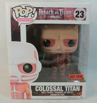 Funko Pop Hot Topic Exclusive COLOSSAL TITAN Deluxe Vinyl Figure 23 Attack on