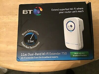 BT Wi-Fi Extender 750 11AC Dual-Band Home Wi-Fi Network Wireless 750 bps