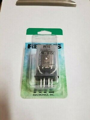 NEW NTE R02-11A10-240 240 Volt AC Coil, 10 Amp DPDT 8 Pin Octal Relay