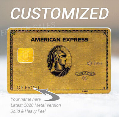 American Express Metal Gold Card Amex 0 Contact Chip Rare