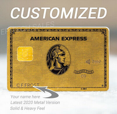 Customized/Real American Express Metal Gold Card Amex Rare - Your Name On It