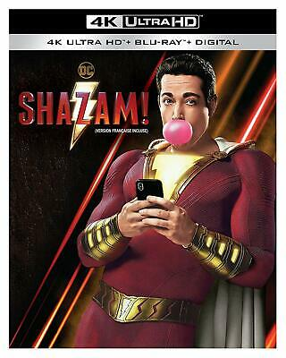 SHAZAM- 4K ULTRA HD + BLU-RAY+ DIGITAL + SLIPCOVER - Brand New!