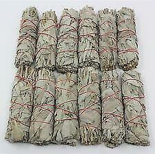 """White Sage Smudge Stick 4"""" - 5"""" 10 pack, Herb House Cleansing Negativity Removal"""
