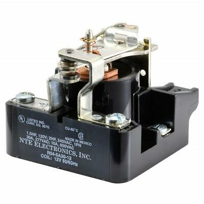 NEW NTE R04-5A30-12 12 Volt AC Coil, 30 Amp SPDT Heavy Duty Open Frame Relay
