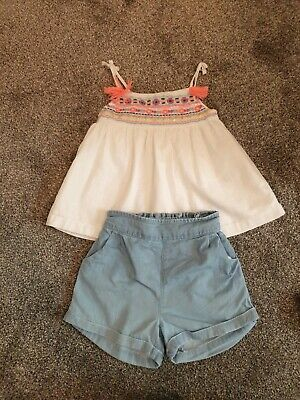 Next Girls Shorts and Top 12-18 Months
