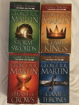 Game of Thrones George Martin Lot of 4 Book A Storm of Swords A Feast For Crows