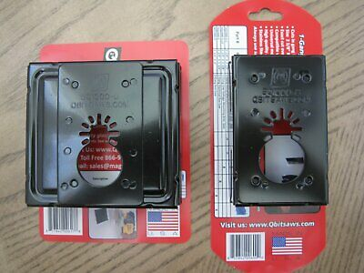 NEW 2 QBit Single & Double Gang Oscillating Tool Saw Blade Cut Wall Outlet Box