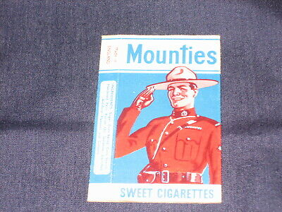 Primrose Confectionery Sweet Cigarette Packet Mounties No 6 Vgc See Pic For Con