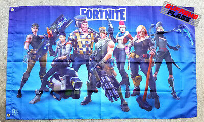 FORTNITE/_Flag 3x5 ft Blue Banner Video Game Toy Room Man-Cave Collectible NEW