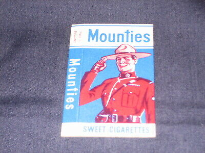 Primrose Confectionery Sweet Cigarette Packet Mounties No 2 Vgc See Pic For Con