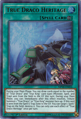 1x - True Draco Heritage - MP18-EN016 - Ultra Rare - 1st Edition NM YuGiOh!  Meg