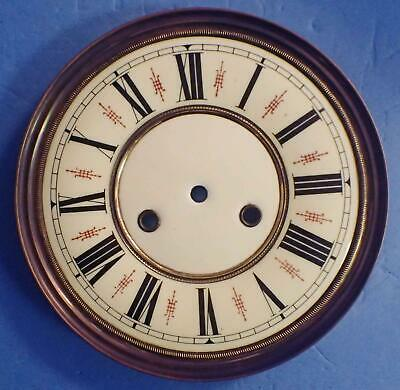 "Antique 8.5"" Porcelain Dial For German Regulator Wall Clock Pristine Condition"