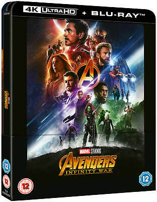 Avengers Infinity War 4K Uhd + 2D Blu-Ray  Lenti Steelbook Zavvi Exclusive [Uk]