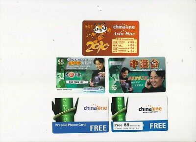 Canada, 5 Prepaid Phone Cards For Local And International Use, All Used Fresh