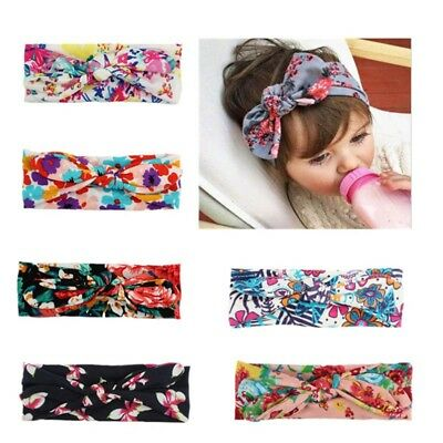 1X Baby Toddler Girls Kids Knot Turban Headband Hair Band Headwrap