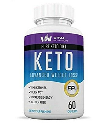 Pure Keto Diet Pills - Ketosis Supplement to Burn Fat Fast - Ketogenic Carb...