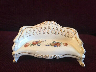 Dollhouse miniature - porcelain sofa / settee with floral print