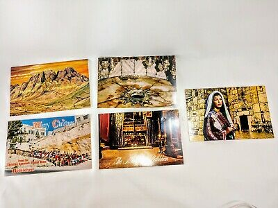 Vintage Holy Land Christmas Cards With Souvenirs