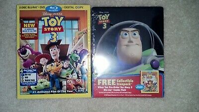 Toy Story 3  bluray/DVD/Digital Copy with Iron Pack Collectible Case