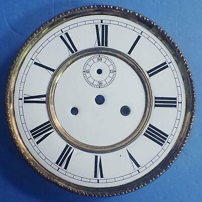 Antique German 2 Weight Regulator Wall Clock Porcelain Dial With Seconds 4 Parts