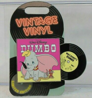 Disney Parks LE 3000 Monthly Pin of the Month Vintage Vinyl Dumbo