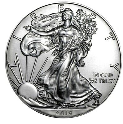 2019 American Silver Eagle BU Roll Of 20 - 1oz Coins in Mint Tube