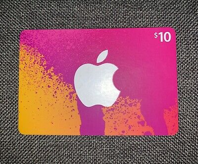 NEW:  $10 Apple iTunes Gift Card PHYSICAL CARD or E-MAIL Delivery $10 VALUE