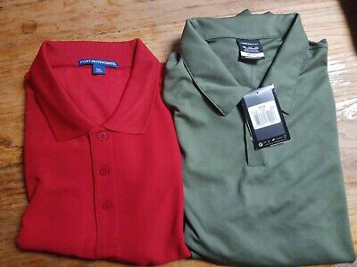 Mens Golf Polo Lot Of 2 - XXXL 3XL Shirts - 1 Nike Dri-Fit and 1 Port Authority