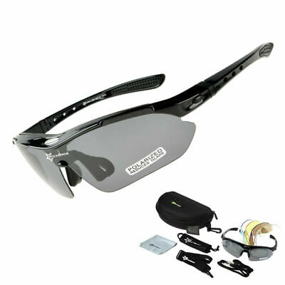 Rockbros Polarized Cycling Glasses Sunglasses Goggles Sports Glasses Black New
