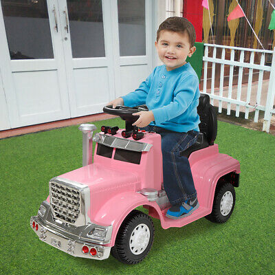 Pink Kids Ride On Car Electric Power Wheels MP3 LED Light Toy