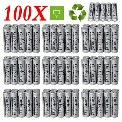 100X 18650 Battery 4000mah Rechargeable 3.7 Li-ion Flat Top Head Cell For Torch