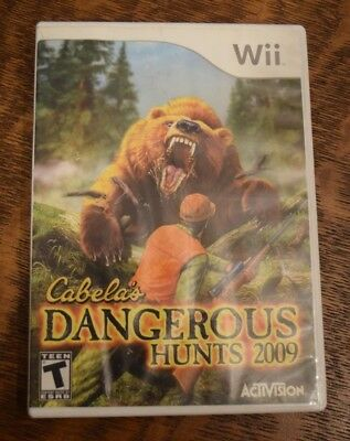 Cabela's Dangerous Hunts 2009 Nintendo Wii Tested and Working