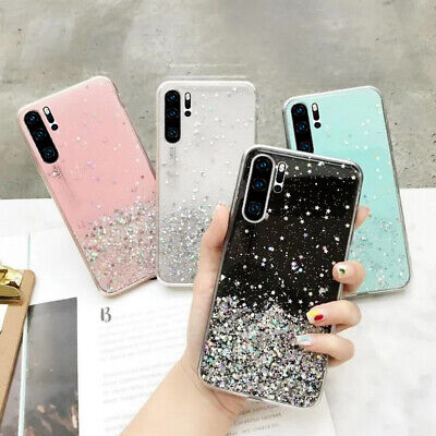For Huawei P30 Pro P20 Nova 5 Mate 20 Glitter Luxury Star Epoxy Clear Case Cover